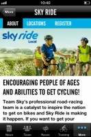Screenshot Team Sky Cycling iPhone app