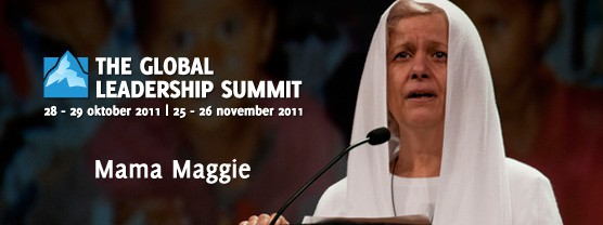 Mama Maggie op de Global Leadership Summit