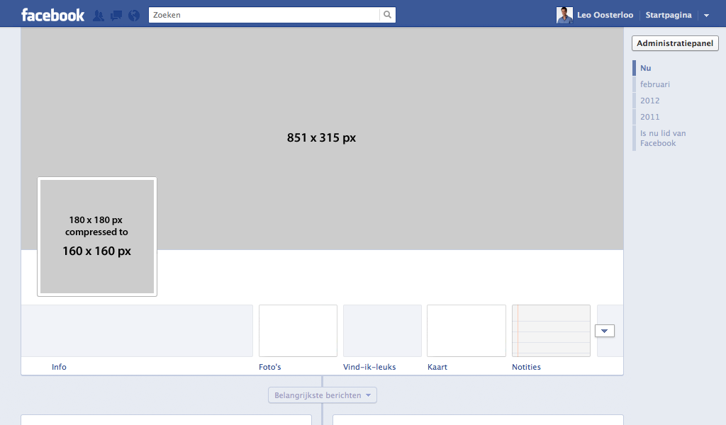 Free Facebook Timeline Template For Fanpage Psd