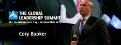 Cory Booker op de Global Leadership Summit