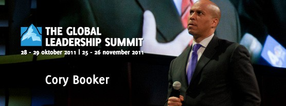 Cory Booker op de Global Leadership Summit